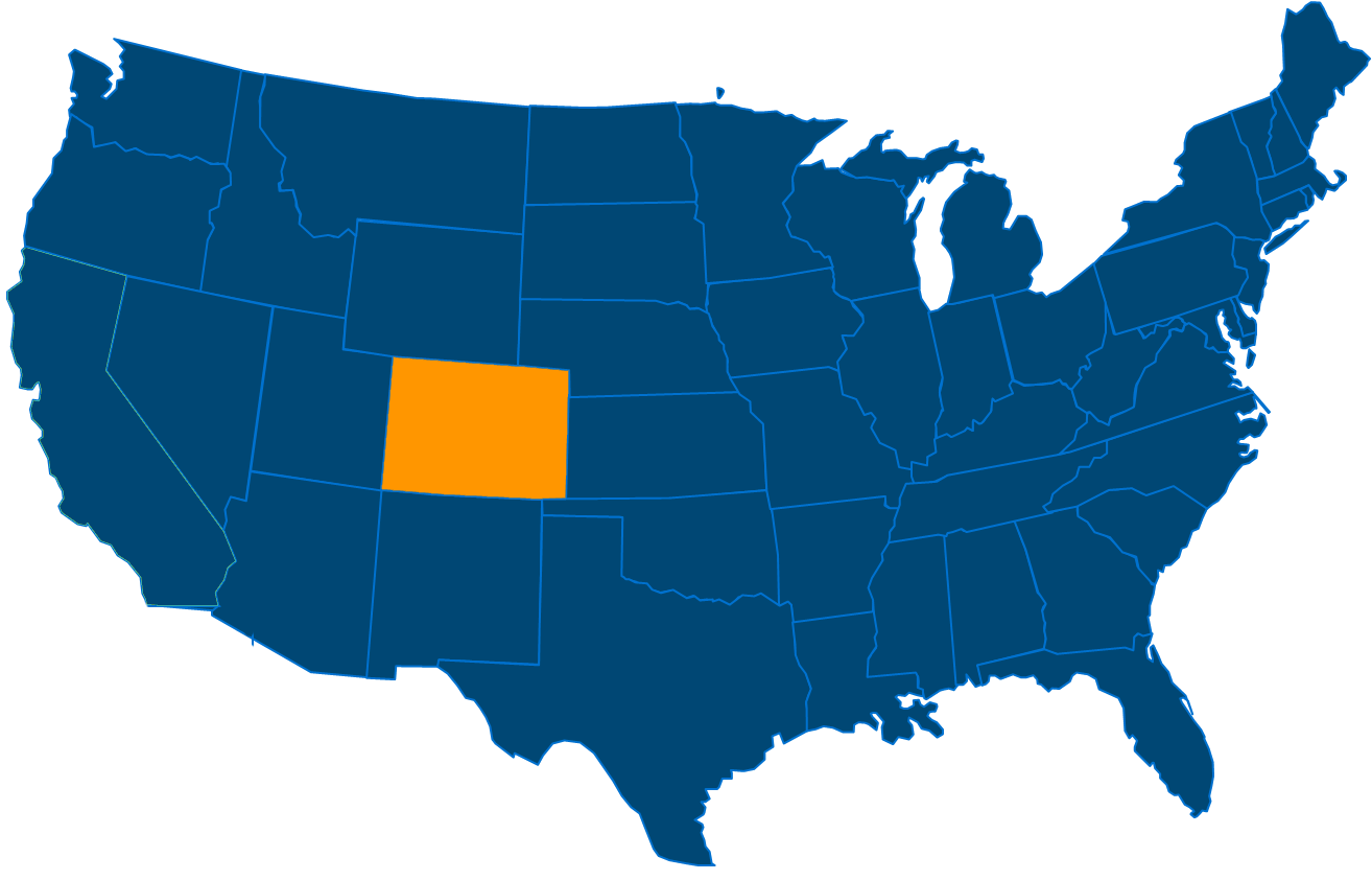 Service are map for All States Industrial Colorado locations