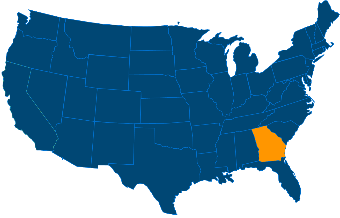 Service are map for All States Industrial Georgia locations