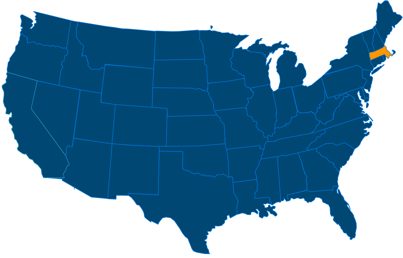 Service are map for All States Industrial Massachusetts locations