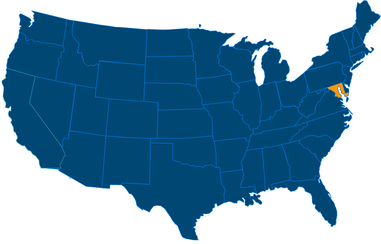 Service are map for All States Industrial Maryland locations