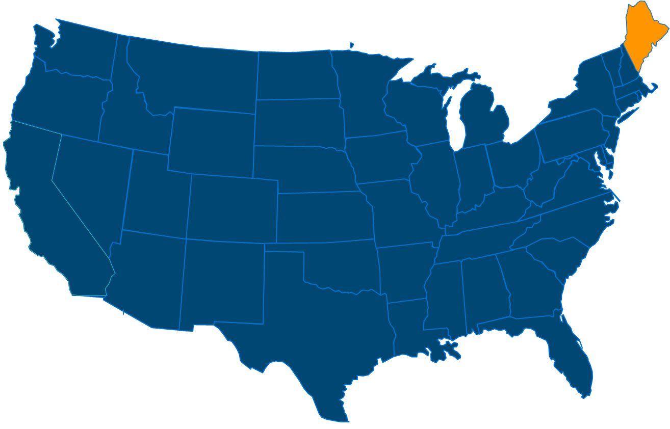 Service are map for All States Industrial Maine locations
