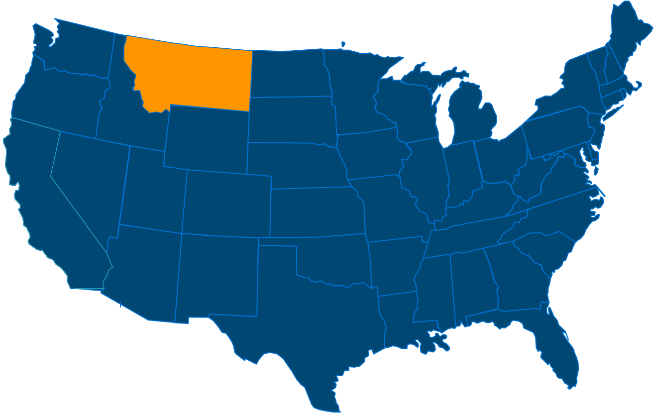 Service are map for All States Industrial Montana locations