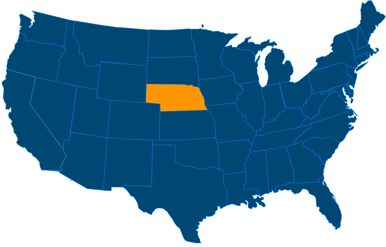 Service are map for All States Industrial Nebraska locations