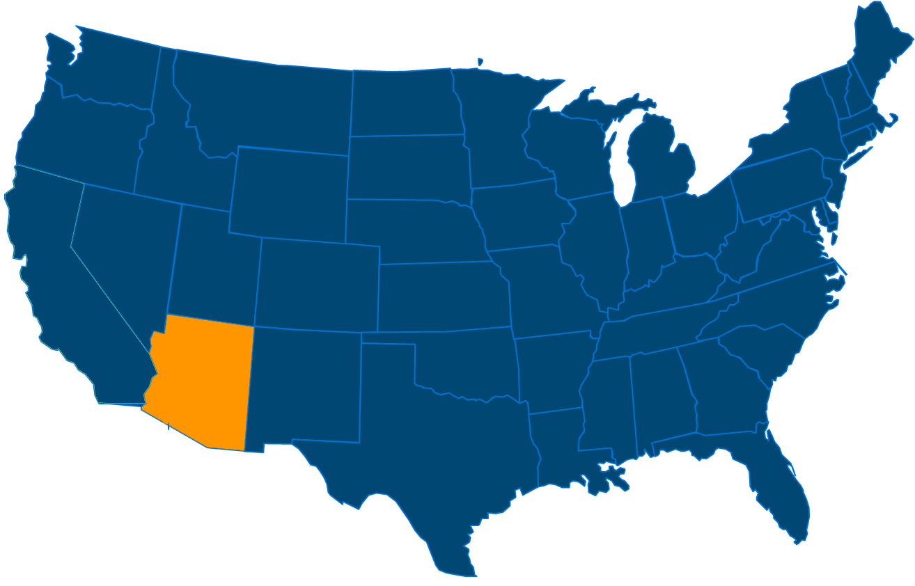 Service are map for All States Industrial New Mexico locations