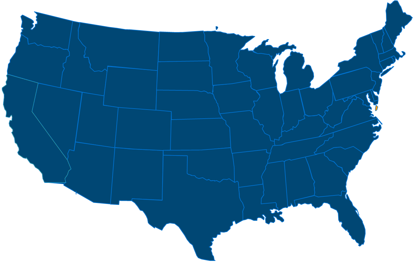 Service are map for All States Industrial Rhode Island locations