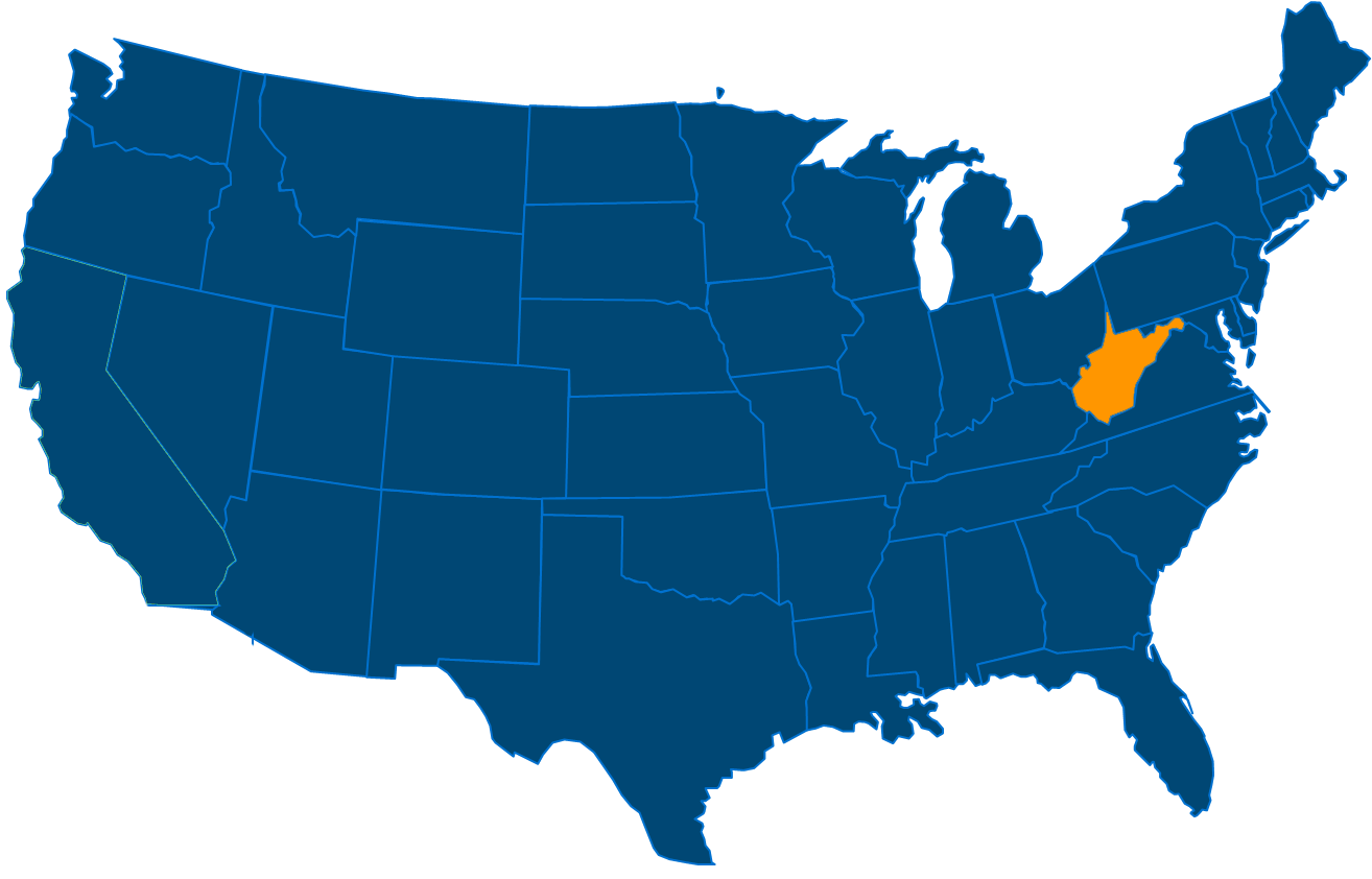 Service are map for All States Industrial West Virginia locations